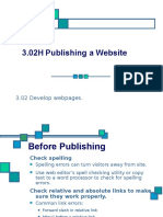 3.02H Publishing a Website
