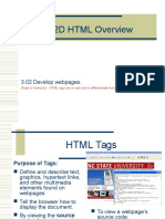 3.02D HTML Overview