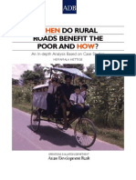 When Do Rural Roads Benefit the Poor and How?