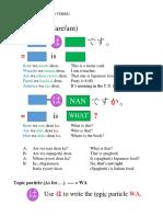Japanese Basic Verb Grammar Summary