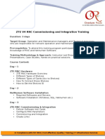 ZTE V4 RNC Commissioning and Integration Training
