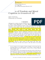 the Idea of Freedom and Moral Cognition in Groundwork III