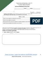 EVALUACIÓN 3 GUÍA FRACCIONES ALGEBRAICAS (3° medio diferenciado)
