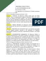 ley orgánica del ministerio público fiscal n° 7826