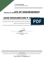 Class c Requirement Endorsement Certificate