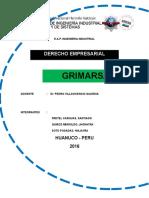 Acta de Conformación de Empresa Grimarsa Srl