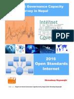 Internet Governance Capacity Survey Nepal 2016