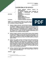 Resolución Nº 501-2014 (Caso Segovia)