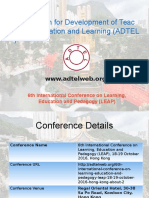6th International Conference on Learning, Education and Pedagogy (LEAP)