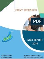 MCX Commodity Report -Sai Proficient