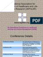 7th International Conference on Healthcare, Nursing and Disease Management (HNDM)