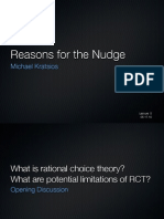 Reasons for the Nudge