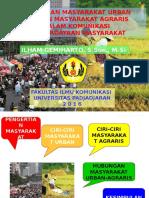 Perbedaan Masyarakat Urban Dan Agraris