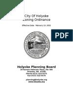 Holyoke zoning code: