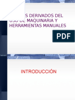 Riesgos derivados uso de Maquinaria y Herramientas