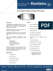BlueOptics BO11C3155210 1000BASE-BX-U GBIC Bidi Transceiver TX1310nm-RX1550 10 Kilometer Singlemode SC Simplex 1 Gigabit