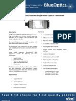 BlueOptics BO11C4955280 1000BASE-BX-U GBIC Bidi Transceiver TX1490nm-RX1550 80 Kilometer Singlemode SC Simplex 1 Gigabit