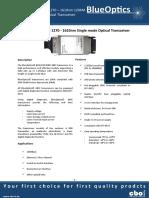 BlueOptics BO12CXX220 1000BASE-CWDM GBIC Transceiver 1271nm-1611nm 20KM Singlemode SC Duplex 1 Gigabit