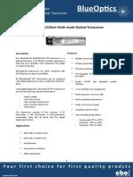 BlueOptics BO05B13602 SFP Transceiver 1310nm 2KM Multimode LC Duplex 622 Mbit