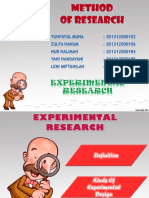 Methodology of Research - Experimental Research