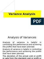 Variance Analysis in financial management