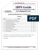 Important Current Affairs Round Up- 1st to 15th October 2015-Www.ibpsguide.com