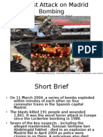 Analysis of Madrid Bombing