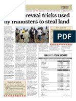 Experts Reveal Tricks Used to Steal Land