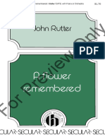 A Flower Remembered - Rutter