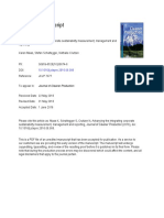 Advancing the Integrating Corporate Sustainability Measurement, Management and Reporting