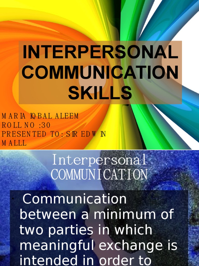 how to learn interpersonal communication skills