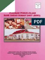 Pedoman Pengelolaan Bank Darah Rumah Sakit (Bdrs)