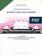 Henri Maclaine Pont, Architekt Tussen Twee Werelden