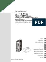 SIEPC80000045C SigmaV User Manual Design Maintenance Rotational Motor
