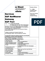 SAP UI5_Netweaver Gateway_Fiori Syllabus Sheet