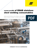 ESAB Catalogue - Overview of ESAB Stainless Steel Welding Consumables