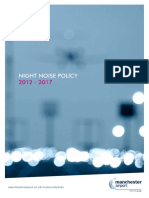 Manchester Airport Night Noise Policy