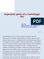 Important Parts of a Centrifugal Fan