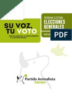 Programa Electoral PACMA 2016