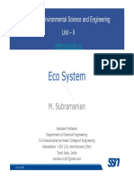 EVS Lecture II 1 Ecosystem