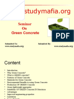 Civil Green Concrete Ppt