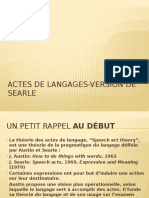Actes de Langages-Version de Searle