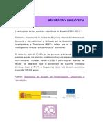 Las Mujeres en Los Premios Científicos en España 2009-2014