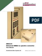 SR03-01Universal NMEA to Synchro Converter