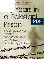 My Years in a Pakistani Prison by Kishorilal Sharma