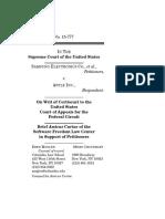 Samsung v. Apple - SFLC Amicus Brief
