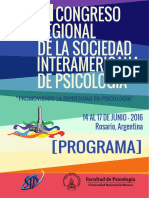 VI Congreso de la Sociedad Interamericana de Psicología- Rosario (Argentina)