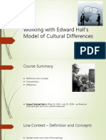 Working With Edward Halls Model