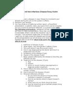 disease essay-rubric