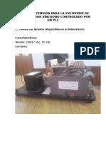 Fuente de Tensión Para La Excitatriz de Un Generador Síncrono Controlado Por Un Plc